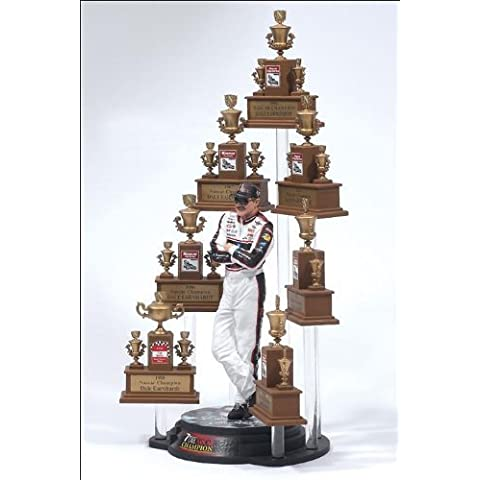 Dale Earnhardt Sr GM Goodwrench NASCAR Seven 7 Time Champion Action Figure & NASCAR (No Winston Cup Logos) Facsimile Champion Trophy Set McFarlane by McFarlane