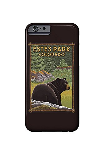 Estes Park, Colorado - Black Bear in Forest (iPhone 6 Cell Phone Case, Slim Barely There) -