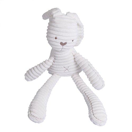 Lalang Weiß Kaninchen Plüschtiere Spielzeug, Baby Kleinkindspielzeug,Beschwichtigen Schlaf Spielzeug,Kinderwagen, der Spielzeugauto-Drehmaschine hängende