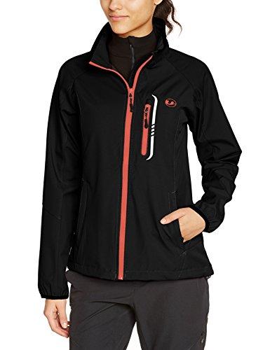 Ultrasport mia softshell giacca per donna, nero/dubarry, l