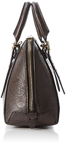 Guess - Lady Luxe Mini Dome Satchel, Borsa a mano Donna Nero (Black Multi)