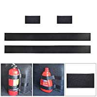 Womdee 4pcs Set of Fire Extinguisher Strap with Self-adhesive Sticker for All Cars Trunk Extinguisher Holder