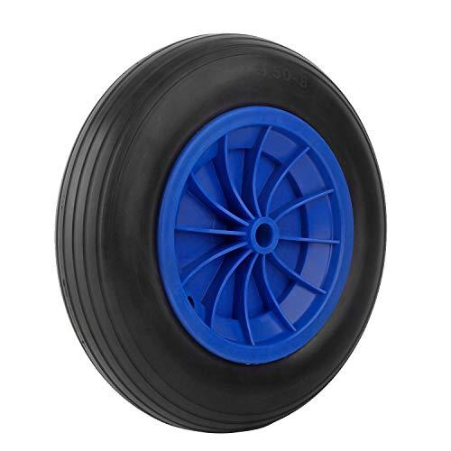 Forever Speed Brouette roue PU roue 3.50-8 Polyuréthane solide caoutchouc roue de secours 356 X 80 mm (1 PCS)
