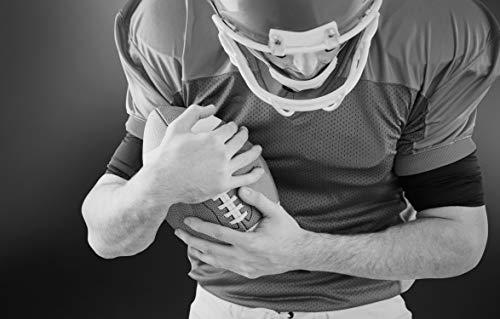 Bilderdepot24 Fototapete selbstklebend American Football Player - schwarz weiß 100x65 cm