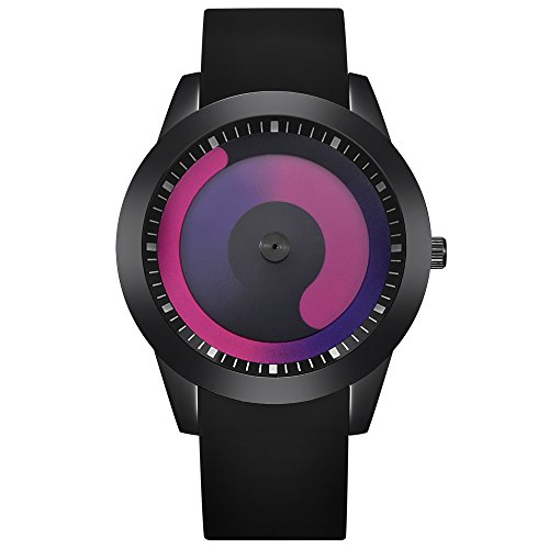 JiaMeng Amistad Pulsera Reloj Deportivo de Cuarzo analógico de Acero Inoxidable de Lujo para Hombre de Moda(Negro B)