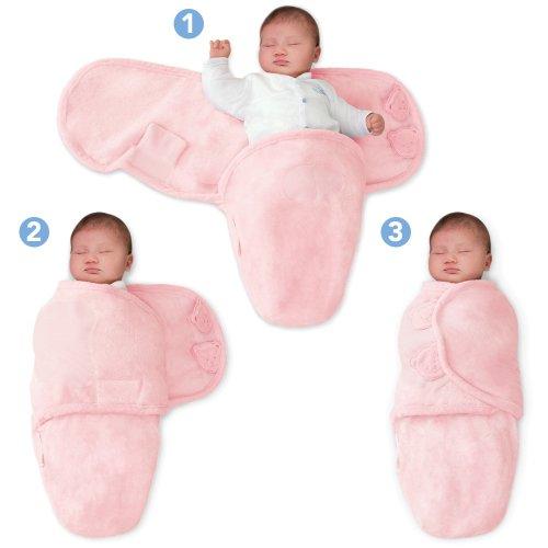 SwaddleMe 10117 - M3P Baby-Groß/Microfleece/rosa - Schreibabys Ganzkörper-Pucksack Large
