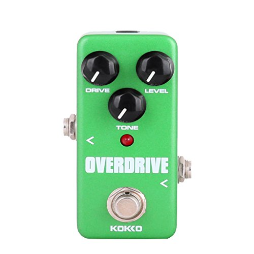 Mini Effect Pedal Overdrive with True Bypass for Electric Guitar Green