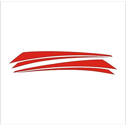 3104__R Pegatina para el coche Lineas ( Red)