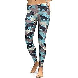 Leggings Mujeres Animal Cat Legging Digital Print Fitness Leggins Slim Alta Cintura Workout Pantalones Legins KDK1746 L