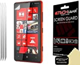 Techgear Clear LCD Screen Protector for Nokia Lumia 820 (Pack of 3)