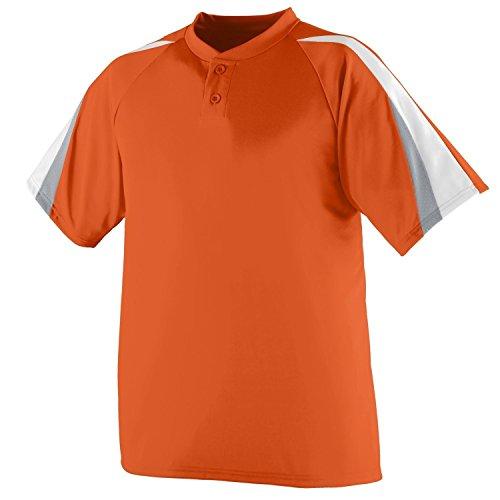 Augusta Herren Sportswear Power Plus Baseball Jersey Orange/White/Silver Grey