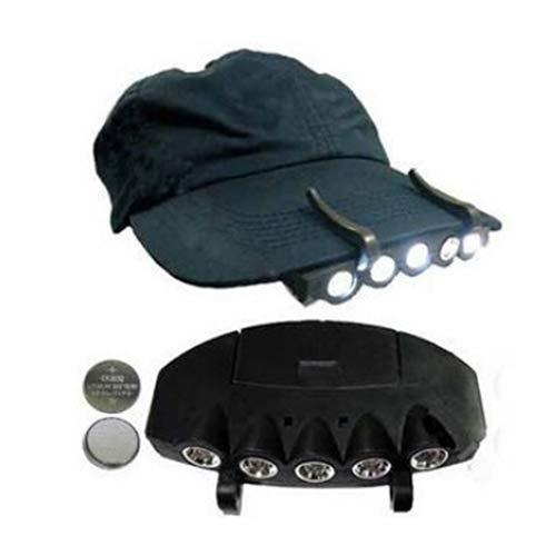 AchidistviQ 5 LED Headlight Headlight Hat Hat Flashlight Head Fishing Bulb Camping Ultra Bright