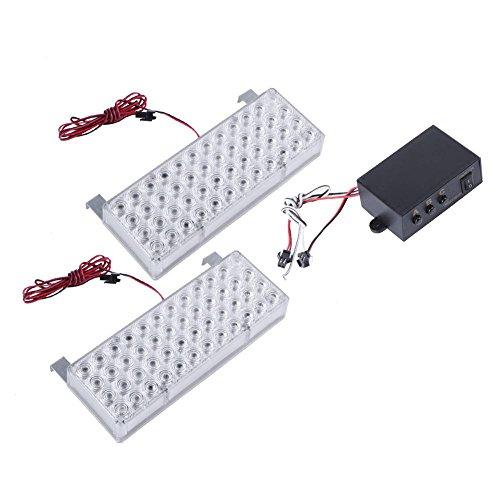 feuerwehrlampe YouN 2pcs Auto, Stroboskop-Licht, Feuerwehr-Lampe (Weiß)