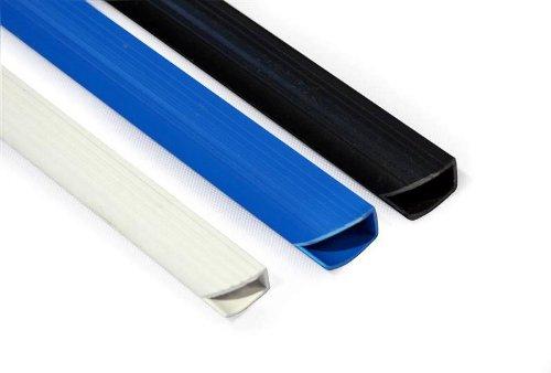 50 Klemmschienen, DIN A4, schwarz-grau-transparent, Klemmbinder in 4 / 6 / 9 mm (6 mm - max. ca. 50 Blatt, transparent)