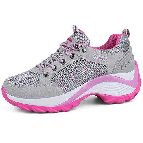 ache Plattform Mesh Durable Gummi-Außensohle Atmungsaktiv Rutschfeste Lace-Up Casual Schuhe ()