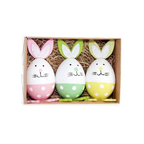 Ostereier 3 Sets Bemalte Eier Ostern Party Dekoration Plastik Tischdeko Osterdeko Kinderspielzeug