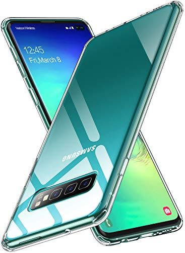 Humixx Kompatibel mit Samsung Galaxy S10 Plus Hülle, Ultra Dünn Handyhülle Stoßfest, Anti-Fingerabdruck, Anti-Scratch Hardcase Bumper Cover Schutzhülle für Samsung Galaxy S10 Plus-Transparent