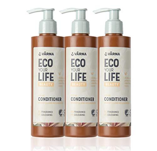 VÄRNA Spülung ohne Silikone und Parfüm 225 ml, 3er Pack, für Strapaziertes und Trockenes Haar
