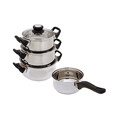 Set of kitchen stainless steel cookware set (7 Pieces) – BATTERY