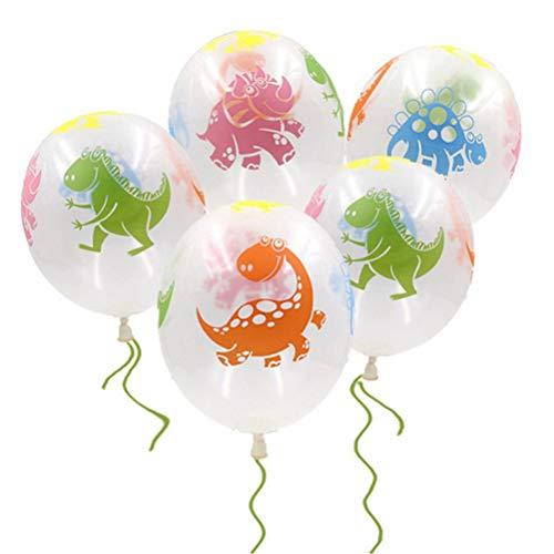 Toyvian 10 stücke Dinosaurier Latex Ballons Jurassic Welt Ballons Baby Shower Dino Geburtstag partydekorationen liefert (zufällige Farbe und Muster)