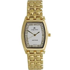 Oskar Emil 600l Crystal Gold – Reloj de Mujer de Cuarzo, Correa de