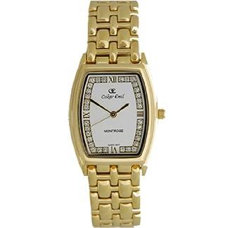 Oskar Emil 600l Crystal Gold – Reloj de Mujer de Cuarzo, Correa de Acero Inoxidable Color Oro