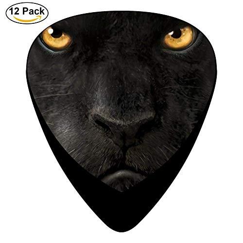 uitar Picks - Celluloid Plectrums for Guitar Bass,12 pack,0.46/0.73/0.96 Mm Guitar ()