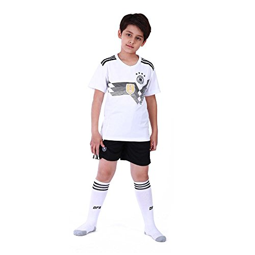 TOOGOO Familie Breathable Sportbekleidung Fussball Set WM Deutschland Fussball Trikots Uniformen Fussball Kit Shirt Trainingsanzug(Kinder,XS)