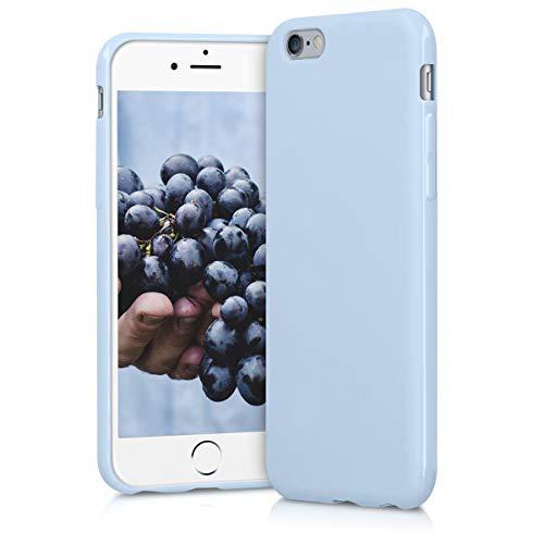 e 6 / 6S Hülle - Handyhülle für Apple iPhone 6 / 6S - Handy Case in Hellblau matt ()