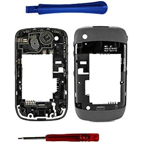 Bislinks® - Midplate originale per Blackberry Curve 8520, con guscio/Chassis, colore grigio