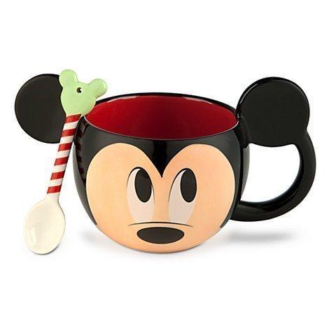 DISNEY DELUXE MICKEY MOUSE BECHER MIT LÖFFEL 3 D OHREN MUG (Mickey Disney Ohren Hat)