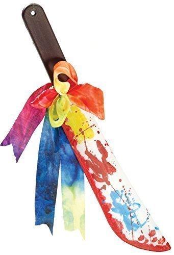 Fancy Me Damen Herren Killer Rainbow Clown Halloween Toy Waffe Kostüm Kleid Outfit Zubehör - Messer