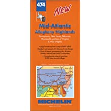 Carte routière : Mid Atlantic - Allegheny Highlands, N° 474