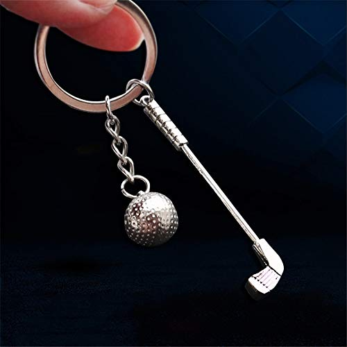 KJHKJH Auto Styling Lustige Golf Club Ball 3D Schlüsselanhänger Für Mercedes Amg W176 BMW X6 Buick Audi Rs3 Honda Civic Jeep Metallschlüssel Chian Geschenk -