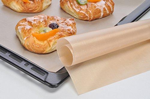 Bambelaa! Dauerbackmatte Dauerbackpapier Backpapier Mikrowellenbackpapier Backfolie einfach zuzuschneiden Antihaftbeschichtung wiederverwendbar Braten Backen (1 Stück)