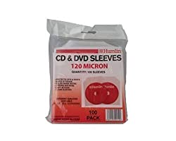 100 Clear 120 Micron Cd Dvd Sleeves