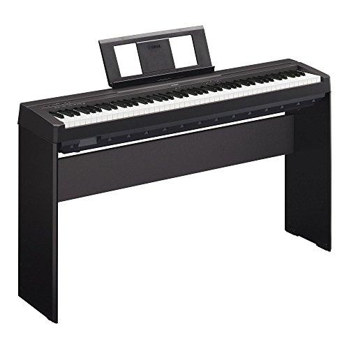 piano/Stagepiano SET inkl. Homeständer (88 Tasten, max. Polyphonie: 64 Stimmen, 10 Voices, 4 Reverb Effekte, 2 x 6 Watt Verstärker, 6 Watt, Auto Power Off, Stativ) schwarz ()