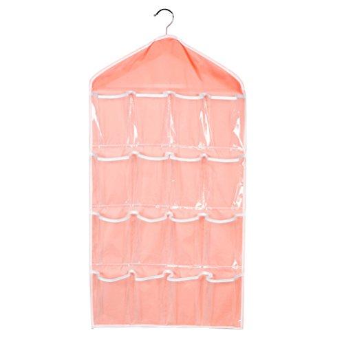 Pensili armadio bestomz porta scarpe da muro portaoggetti con gancio 16 tasche (rosa)