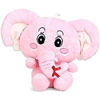 Msfi Soft Push Quality Fabric Hug-Gable Elephant Teddy Bear Pink Color, Size 32 cm
