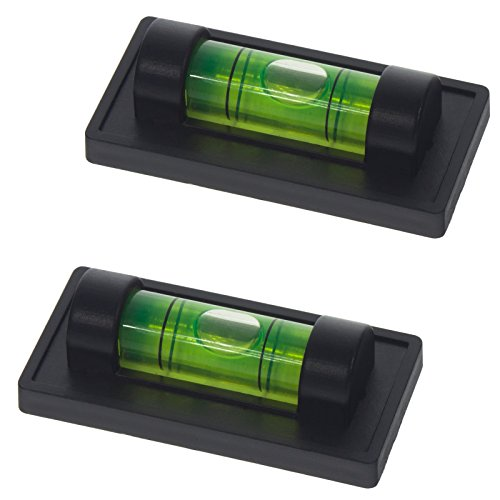 2x Smartfox Magnet Mini Wasserwaage mit 1 Libelle in schwarz