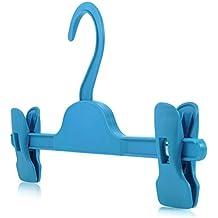 Hangerworld - Perchas Infantiles De Plástico Con Pinzas, Para Ropa De Niños, 28 cm, Color Azul, 20 Unidades
