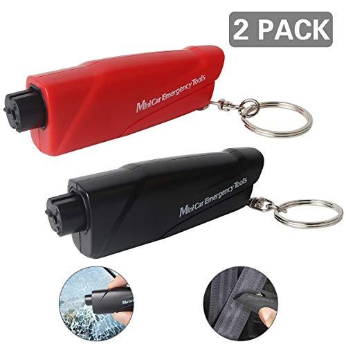 Mini Auto Notfallhammer, 2 Packungen Tragbare Auto Sicherheitshammer mit Gurtschneider, Gurtmesser, Fahrzeugsicherheit Hammer, Notfallhammer für Auto, Bus