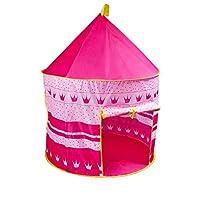 خيمة لعب قابلة للطي والحمل من بينك بلاي، بتصميم قلعة للأمراء الصبيان تستخدم كمنزل للعب في الخارج ويمكن تقديمها كهدية