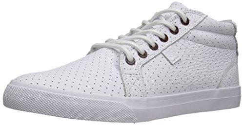 DC Mens Council Mid LX Skate Shoe White/Armor