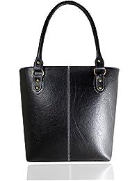 Fargo Fine Line PU Leather Women's & Girl's Shoulder Handbag (Black_FGO-006)