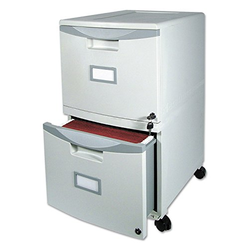 Two-Drawer Mobile Filing Cabinet, 14-3/4w x 18-1/4d x 26h, Gray, Sold as 1 Each