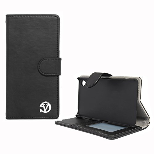 VanGoddy Premium Self Stand Mary Wallet Flip Book Cover Case for Sony Xperia Z3 (Black)  available at amazon for Rs.199
