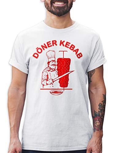 Kostüm Shirts Aus T - Shirtracer Döner Kebab Herren T-Shirt und Männer Tshirt (Weiß, S)