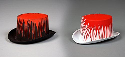 Festartikel Müller weißer Zylinder Blut zum Horror Lord und Lady Kostüm an Halloween (Kostüme Und Lord Lady)