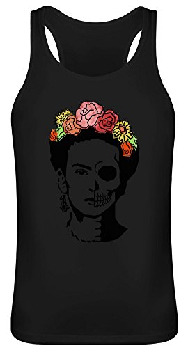 Tote Frida - Dead Frida Tank Top T-Shirt Jersey for Men & Women - 100% Soft Cotton DTG Printing Unisex Clothing X-Large